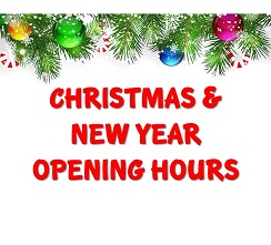 Christmas and New Years Open Hours